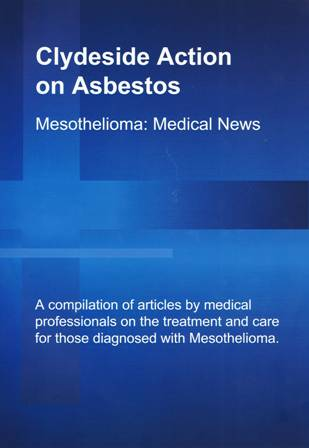 Cover of Mesothelioma Medical News, Issue 1