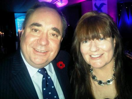 First Minister Alex Salmond with Phyllis Craig